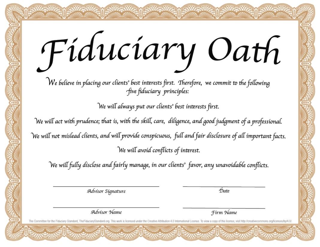 The Pledge Most Advisors Won't Sign! - IntegrityIA